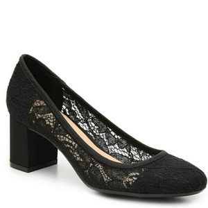 Chinese Laundry Blace Lace Chunky Heel Pumps 7